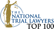 Logo Recognizing Law Office of Matthew A. Lathrop, PC, LLO's affiliation with National Trial Lawyers Top 100